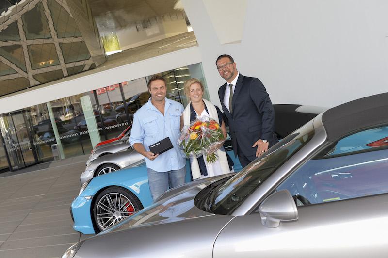 Das Porsche Museum begrüßt am 21. April 2016 den 3-Millionsten Besucher.